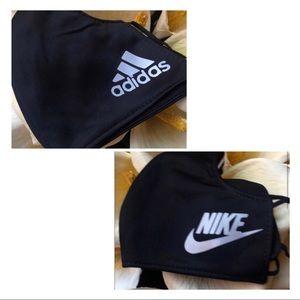 2/$20 Nike and Adidas Mix Black Face Masks